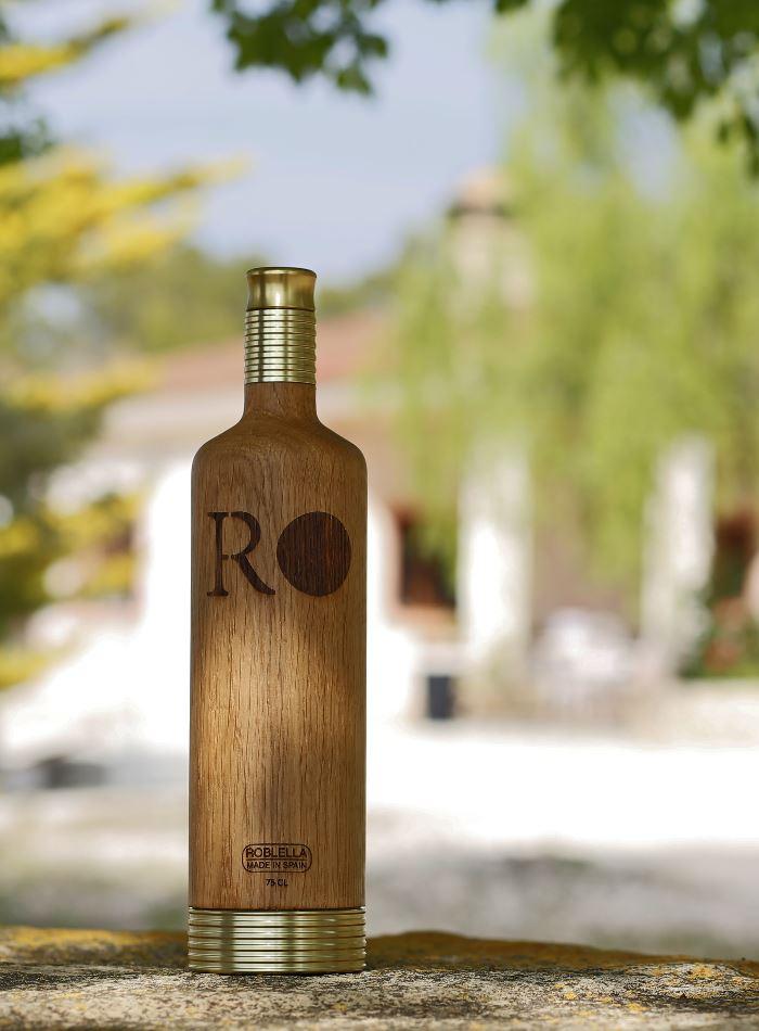 Flasche aus Eichenholz